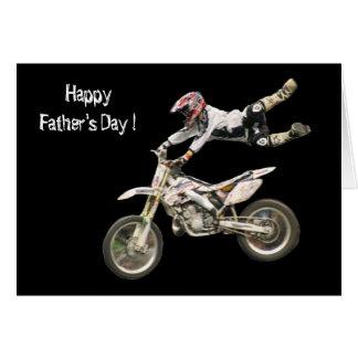 moto der Vatertag Grußkarte