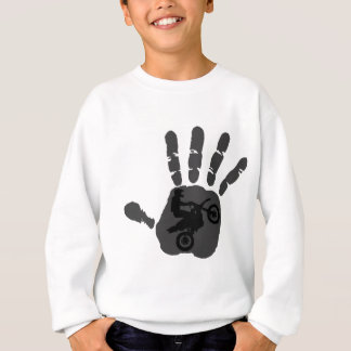 Moto graues Gefühl Sweatshirt
