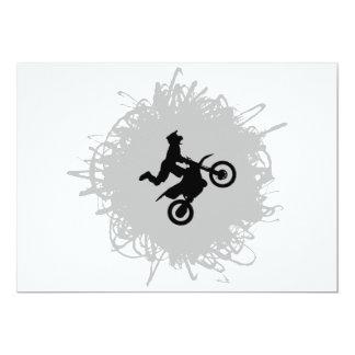 Motocross-Gekritzel-Art Karte