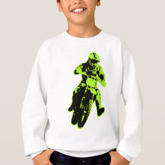 Motocross grün sweatshirt