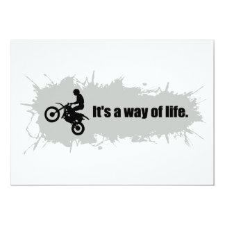 Motocross ist eine Lebensart Karte