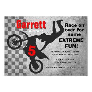 Motocross-Schmutz-Fahrrad-Geburtstags-Party Karte