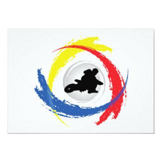 Motocross-Tricolor Emblem Karte