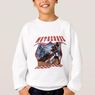 Motocroßreiter und -blitz sweatshirt