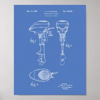 Motor für Patent-Kunst-Plan der Boots-1936 Poster