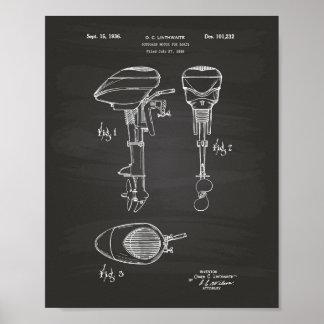 Motor für Patent-Kunst-Tafel der Boots-1936 Poster