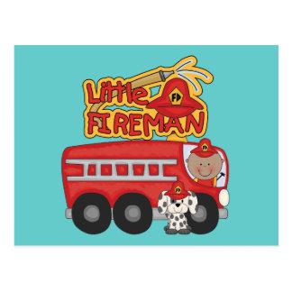 Motor-kleiner Feuerwehrmann-afrikanische Postkarte