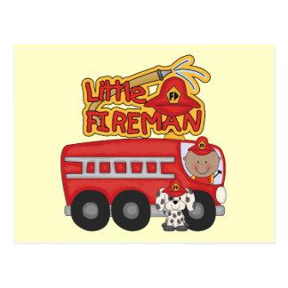 Motor-kleiner Feuerwehrmann-afrikanische Postkarten