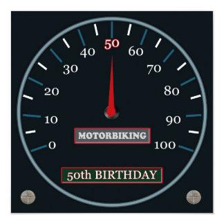 Motorbiking 50. Geburtstags-Einladung