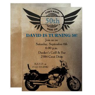 Motorrad-Geburtstags-Einladung 12,7 X 17,8 Cm Einladungskarte