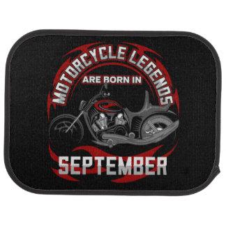 Motorrad-Legenden sind im September geboren Autofußmatte