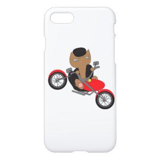Motorrad-Radfahrer-Katze iPhone 8/7 Hülle