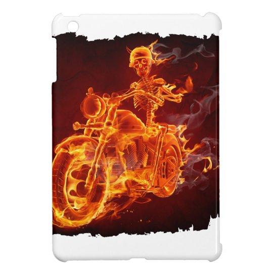 Motorrad-Radfahrer - Skelett iPad Mini Cover