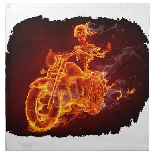 Motorrad-Radfahrer - Skelett Stoffserviette