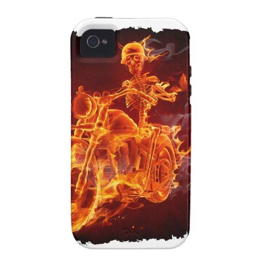 Motorrad-Radfahrer - Skelett Vibe iPhone 4 Hülle