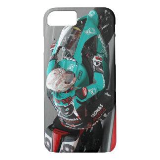 Motorrad-Rennstrecke-Türkis-Handy-Fall iPhone 8/7 Hülle