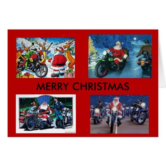 Motorrad-Weihnachtskarte Karte