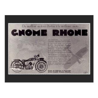 Motorradanzeige mit 1929 Franzosen, Paris Saigon Postkarte