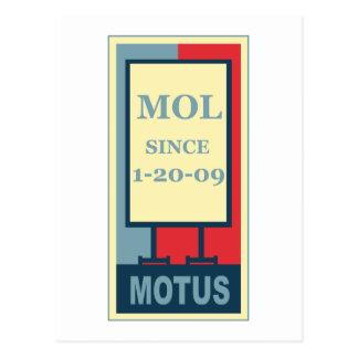 MOTUS IKONE: MOL SEIT 1-20-09 POSTKARTE
