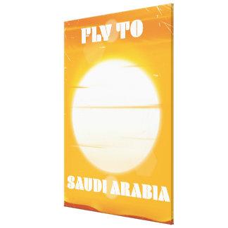 Mouche à l'affiche vintage de voyage de l'Arabie Toiles