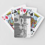 Mouettes sur une coupure jeu de 52 cartes