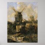 Moulin de la Galette, Montmartre, 1861 Posters