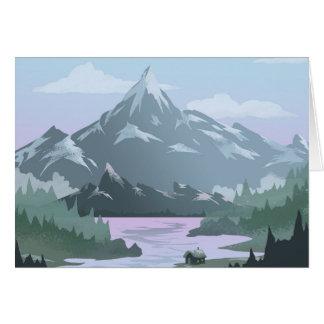 Mountain View Zuhause-Gruß-Karte Grußkarte