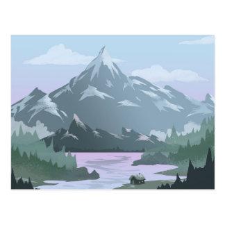 Mountain View Zuhause-Postkarte Postkarte