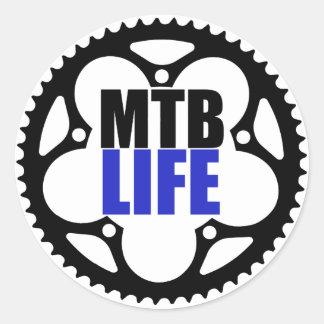 Mountainbike-Leben Runder Aufkleber