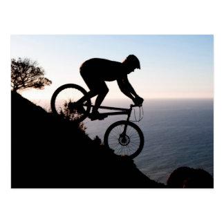 Mountainbike-Reiter. Löwe-Kopf, Cape Town Postkarte
