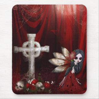 Mousepad avec la fée, la croix, les crânes et les  tapis de souris