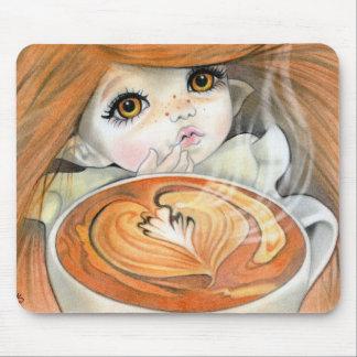 Mousepad de fée de chocolat chaud tapis de souris