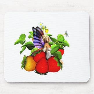 mousepad de fée de fraise tapis de souris