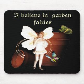 Mousepad de fée de jardin de pot de fleur tapis de souris