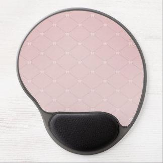Mousepad de gel Light Pink with small tu laces Tapis De Souris En Gel