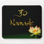 Mousepad de Lotus Namaste avec l'OM Tapis De Souris