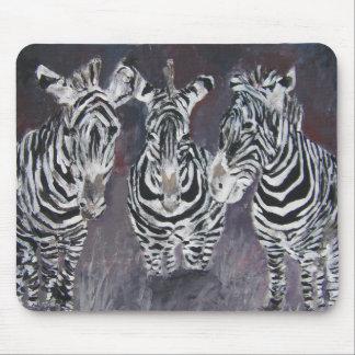 mousepad de peinture de zèbre tapis de souris