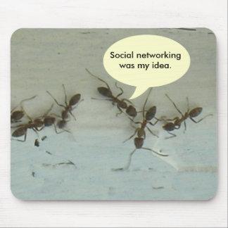 Mousepad - Sozialvernetzung war meine Idee