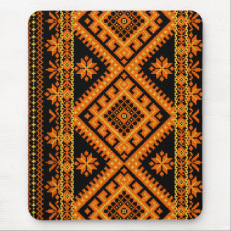 Mousepad ukrainische Querstich-Orange