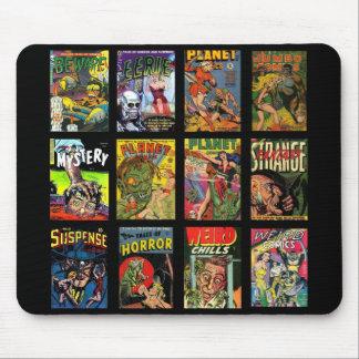 Mousepad Vintage Comic-Bucheinband-Collage