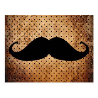 Moustache noire drôle carte postale
