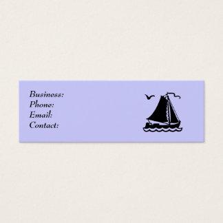Möve des Segel-Boots-n Mini Visitenkarte