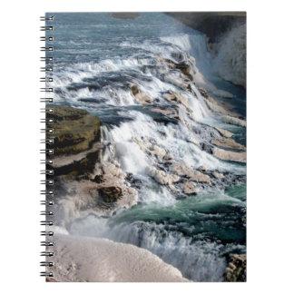 Möve Foss Wasserfall Island Spiral Notizbücher