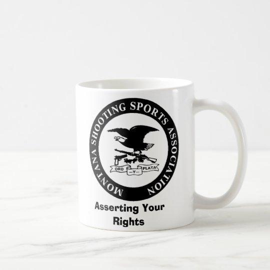 MSSA LOGO, Ihre Rechte erklärend Kaffeetasse