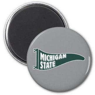MSU Spartans | Michigan Staats-Universität 4 Runder Magnet 5,7 Cm