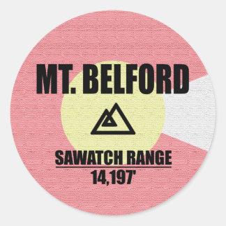 Mt. Belford Runder Aufkleber