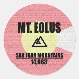 Mt. Eolus Runder Aufkleber