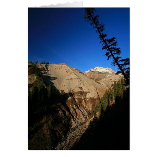 Mt. Haube durch Zickzack-Schlucht Grußkarte