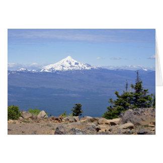 Mt. Jefferson vom schwarzen Butte Karte