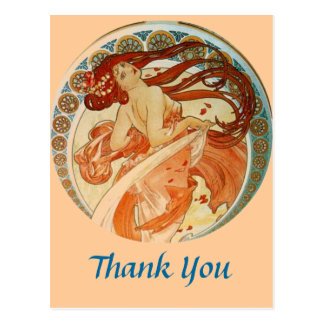 Mucha Frau danken Ihnen Postkarte